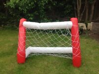 Inflatable goal net in pairs