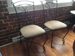 2 chaises bistro