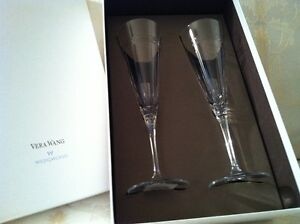 Vera Wang toasting flutes by Wedgewood
