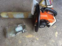 Petrol chainsaw German solo with new spare parts £120