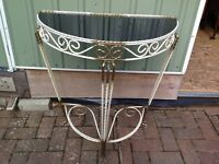 Metal Half Moon Hall Table