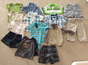 12 months summer boys clothing lot