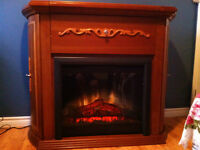 Fireplace with insert