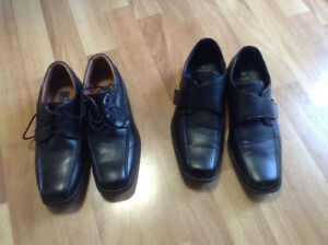 Youth dress shoes size 6, two pair