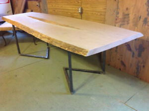 LIve Edge Cherry Table on Sale from our Showroom