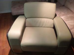 Three Leather Sofa Set for Sale