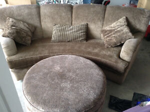 Amazing Handcrafted Couch and Ottoman