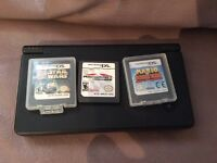 Nintendo Ds with Mario kart, Lego Star Wars and donkey kong
