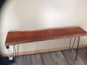 Handcrafted hairpin leg console tables