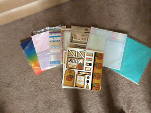 Assortment of Scrapbooking pages and Stickers