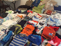 Boys baby clothes newborn to 12 months size.