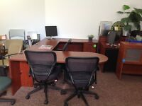 OFFICE FURNITURE FOR SALE -  BULLET DESK/CHAIRS