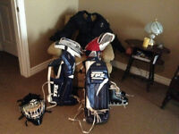 Mens or large boys goalie hockey equipment