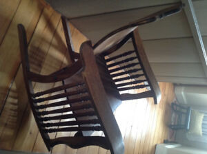 Antique morris style rocking chair