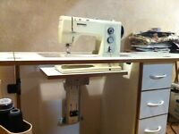 Sewing/quilting table, hydraulic machine lift: by Sylvia Design