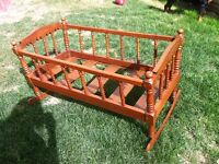 Vintage full size baby cradle