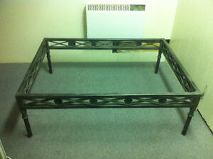 Designer William Morris metal coffee table glass not included