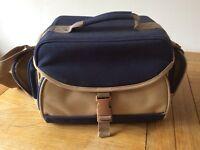 Camera bag/case - blue/brown for video camera, SLR etc