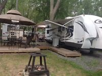 Roulotte Cougar 26 pieds camping lac du Repos