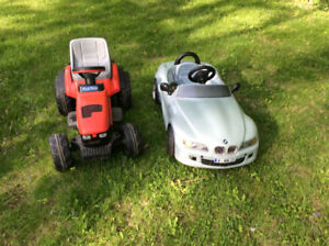 Kids ride on BMW  car , tractor and push around buggy for sale