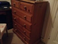 Large antique pine drawers
