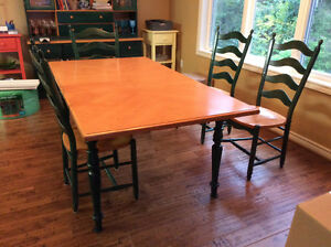 Dining Room Table buffet hutch and six chairs