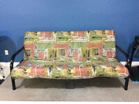 Black futon with cover/ new