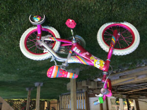 Girls Barbie Bike with Training Wheels