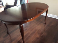Gibbard Canadian legacy cherry wood table with two extensions