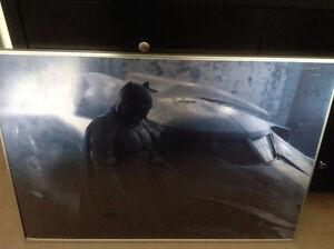 batman v superman 27x40 vinyl banner framed $15.00