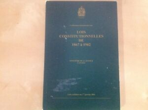 The Constitution Acts 1867 to 1982 - Lois Constitutionnelles