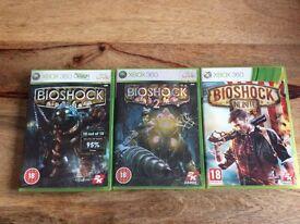 Xbox 360 3 BIOSHOCK GAMES, BIOSHOCK, BIOSHOCK 2 and BIOSHOCK INFINITE