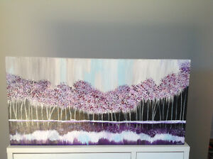 Toile paysage abstrait