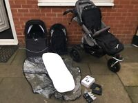 TFK JOGGSTER TWIST III WITH BUDDY SEAT AND CARRYCOT