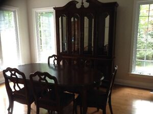 Dining room set with buffet/glass hutch (made in Canada)