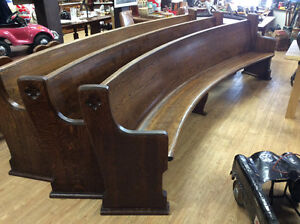 Gorgeous 12ft church pews excellent condition curved