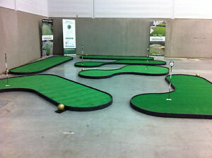 6 hole portable putting green course