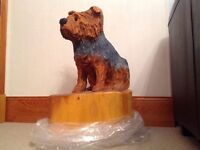 Yorkshire Terrier Hand Made Wooden Carving