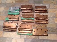 Ball Bering hinges.Solid brass.