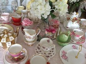 Vintage china for all special occasions