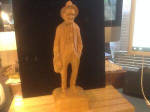 "CARON CARVING ST-JEAN-PORT-JOLY - QUEBEC FOLK ART10""IN TALL"