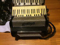 Accordions for sale.