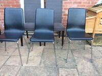 FREE DINING CHAIRS x5 (2 leather + 2 upholstered)