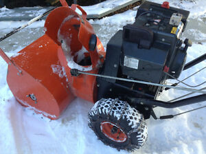 826 Columbia Snowblower, electric start, will trade for honda