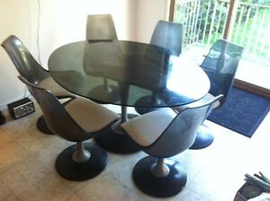 Retro Art Deco Dining Table And Chair Set