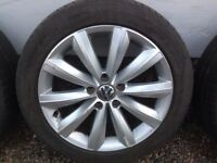 "17"" VW PASSAT B7 SAO PAULO ALLOY WHEELS ALLOYS TYRES WHEELS RIMS PCD 5X112 FITMENT"
