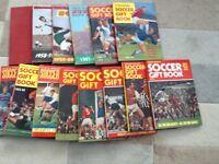 Soccer gift books 1957-58 to 1971-72