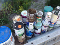 Misc cans of paint