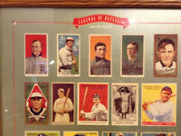 Legends of Baseball 1909-1953 framed lithograph from Met Museum