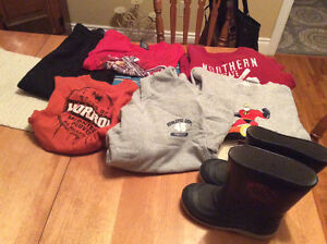 Assorted kids clothes